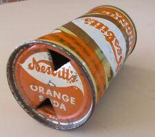 Pre Zip 1950's Straight Steel Nesbitt's Orange Soda Can Flat Top Open.