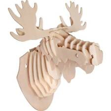 Grand Star 3-D Wall Mounted Moose Head Wood Jigsaw Puzzle No:5 BRAND NEW