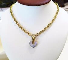 CHIMENTO PAVE DIAMOND HEART ENHANCER 18KT YELLOW GOLD & DIAMOND 18KT NECKLACE