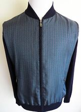 $2075 BRIONI Slim Fit Cashmere Blend Cardigan Sweater Jacket Size 50 Euro Medium