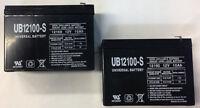 UPG 2 Pack - 12V 10AH BATTERY SHOXING HUITONG 6-DW-10 F2 .250 TERMINALS REPLACEM