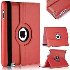 360° Rotating Red PU Leather Stand  Fold Case Cover For Apple iPad 5 or Air 1
