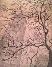 LEON LOUIS DOLICE 1892-1960 GOTHAM NEW YORK CITY CLOCK TOWER ETCHING MODERNIST
