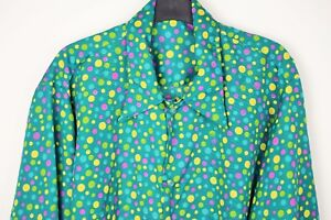 Mens Vtg 70s Style Disco Party Prince Crazy Psychedelic Festival Shirt LOUD Lrg