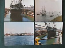 4 Pro Photos of 1985 USS Constitution Annual Turnaround Cruise & Dry Dock 8x10
