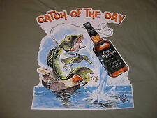 Evan Williams Bourbon Shirt Whiskey Catch Of The Day Fishing Mens XL