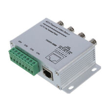 New Silver UTP 4 Channel Passive Video Balun Transceiver Adapter S1M7