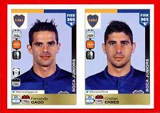 FIFA 365 2015-16 PANINI 2016 -Figurina Stiker- n. 80/81 -GAGO-ERBES-BOCA J.-New