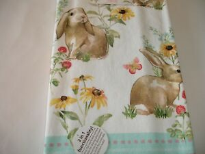 New! Spring Bunny Butterfly Flowers Dual Purpose Kitchen Towel Tea Dish Towel