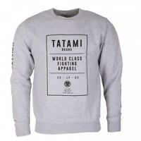 Tatami Brand Sweat Shirt Grey Top BJJ Brazilian Jiu Jitsu Casual MMA Grappling