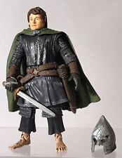 "Lord Of The Rings ROTK Pippin Armor Removable Helmet 6"" Figure 2003 Complete"