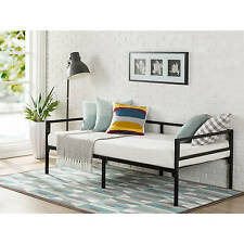 Black Twin Size Metal Frame Day Bed Home Living Room Bedroom Sleep Furniture