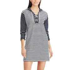 CHAPS Womens Striped Lace-Up Shift Dress NAVY/WHITE (Size X-LARGE) NWT MSRP $79
