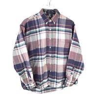 Salty Dog Gant Plaid Button Down Shirt Size L Multicolor Long Sleeve 100% Cotton