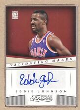 Eddie Johnson 39 2013-14 Panini Timeless Validating Marks Autograph Auto