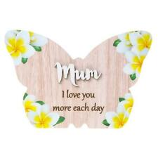 Mum I love you more each day colourful butterfly plaque gift 283750