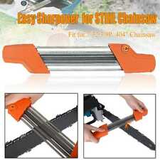 """2 IN 1 Easy Chainsaw Chain File Sharpener 3/8""""p .404"""" Replacement For Stihl"""