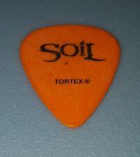 SOIL ☆ TIM KING ☆ AUTHENTIC STAGE USED Guitar Pick (Orange w/black print)