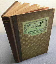 Rare. Selected Verse of Harry Lee Marriner -Dallas News Staff 1928 (HC Accept)