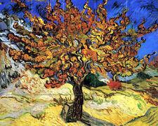 Art Van Gogh Mulberry Tree Mural Tumbled Marble Backsplash Bath Tile #1384