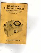 Victoreen Manual Radiological Survey Meter Model 1a Atomic Radiation J1000