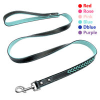 Braided PU Leather Dog Leash Small Medium Dogs Walking Training Lead Rope Pink