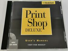 Broderbund Print Shop Deluxe Vintage 1996 PC-CD-Rom Software MPC