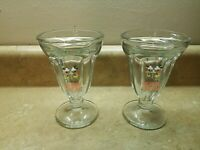 Lot of 2 Disney's Soda Fountain And Studio Store Hollywood Ice Cream Glass