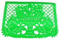 One party fiesta theme Mexican papel picado banners bunting plastic event decor