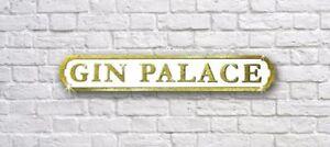 Gin Palace Gold Glitter Road Street Sign WallArt Mothers Christmas Gift Birthday