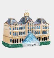 Louvre Museum Paris France Polish Blown Glass Christmas Ornament Decoration