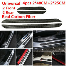 48CM+25CM Carbon Fiber Car SUV Scuff Plate Door Sill Panel Step Protector Covers
