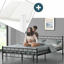 Metallbett Bettgestell Bett Komplett Set mit Matratze Doppelbett ArtLife®