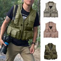 Men Tactical Military Waistcoat Combat Assault Plate Carrier Fishing Vest L-3XL