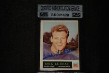 DICK LeBEAU 1965 PHILADELPHIA ROOKIE SIGNED AUTOGRAPHED CARD #64 CAS AUTHENTIC