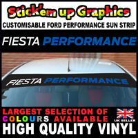 Fiesta Performance Mid Blue SUN STRIP Ford UK MADE ST RS Fast Dispatch