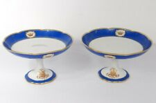 2 compotiers porcelaine de Paris Gille Jeune couronne Napoléon III XIXème