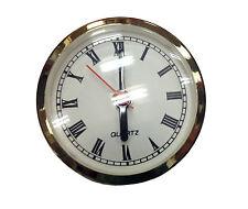 "NEW 2-5/8"" White Roman Quartz Fit-up Insert Clock Movement (C-576)"