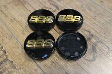 Original BBS 3D Emblem 56mm Schwarz Gold Nabenkappe Felgendeckel 56.24.012 Japan