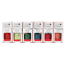 CND Shellac SET OF 6 Colors UV Gel Polish RHYTHM & HEAT Shades 2017 Collection