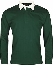 1c3d87d6212 New Mens Rugby Shirt Premium Long Sleeve Cotton Casual Regular Fit Jumper  Top
