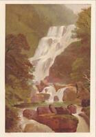 TORC WATERFALL, LAKES OF KILLARNEY Vintage Antique Art Chromolithograph Print