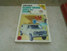 Chiltons Ford Vans Used Tune Up Manual VP 1961-1982 VP-CM84