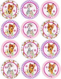 12 x 5cm Edible Bambi *PRECUT* Icing Cupcake Toppers