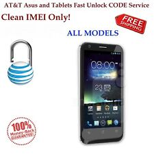 AT&T ALL Asus Padfone X Zenfone 2e 3 4 5 Mini VivoTab Fast Unlock Code Service.