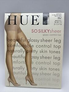 Hue So Silky Sheer Gloss Control Top  size 2 Style #13363 Steel New in Package