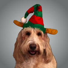 Natale Deluxe pet Elf Hat Con Velcro Natale Costume Da Gatto/Cane Elf Hat Dress