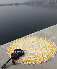 Bohème Mandala Tapis de Plage Yoga Jeté De Lit Mur Hippie Tapisserie Rond Murale