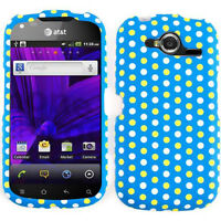 Polka Dots on Light Blue Hard Cover Case for Pantech Burst P9070 AT&T Accessory
