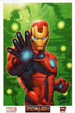 50 Made! Greg Land SIGNED Autograph C2E2 Con Exclusive Iron Man Comic Art Print